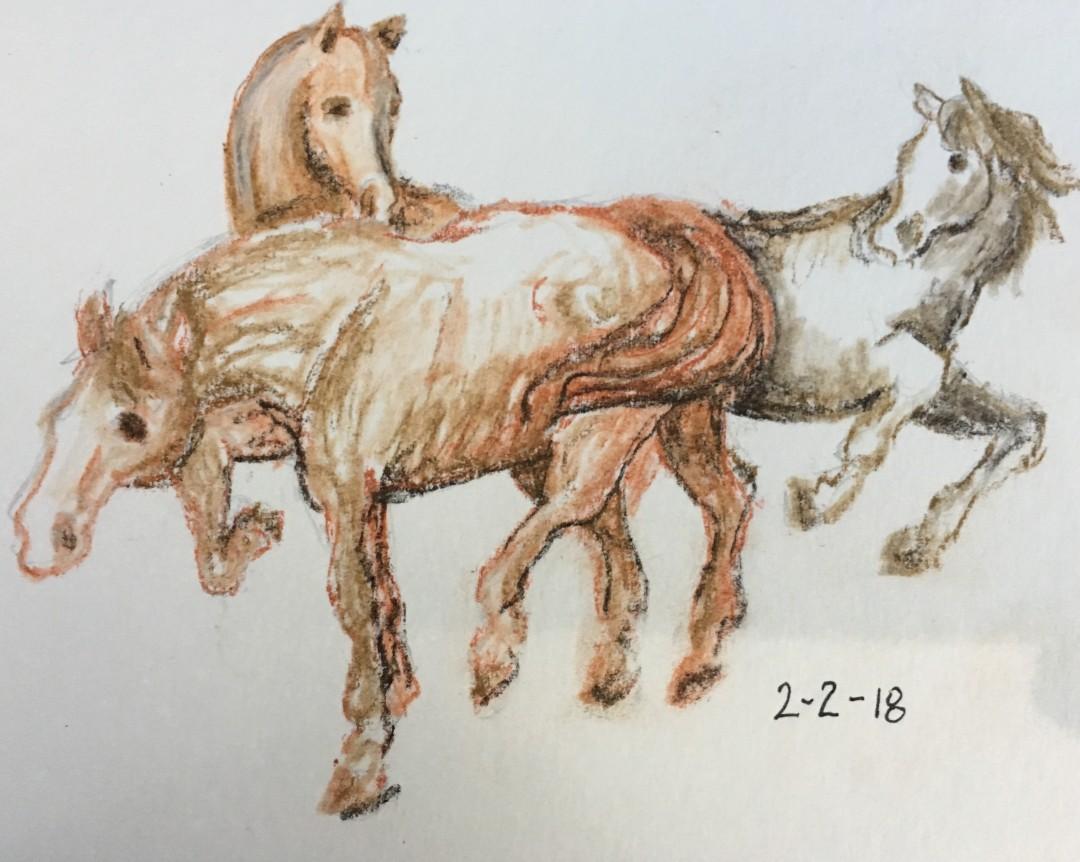 2-2-18 Three Horses