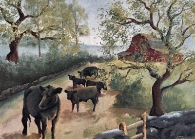 Black Cows & Red Barn