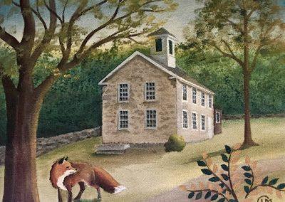 Fox and Schoolhouse