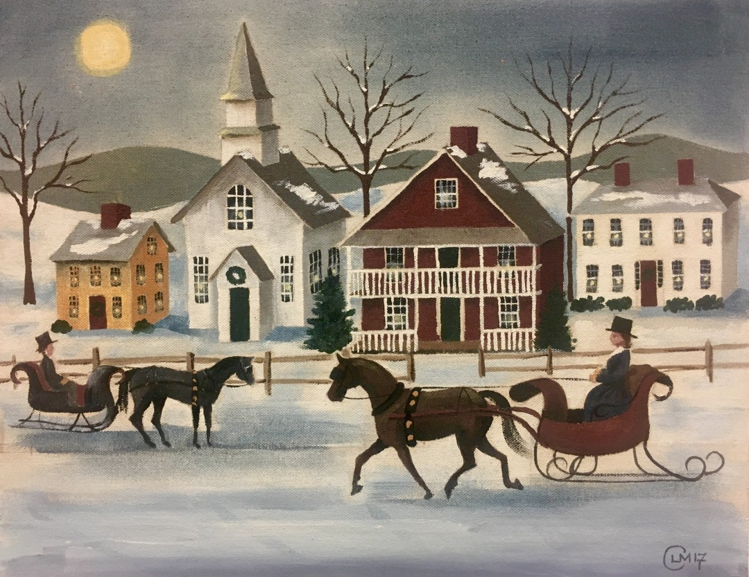 """Winter Village"" is this week's painting"