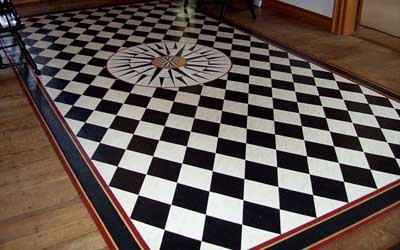 Floorcloth mariners compass