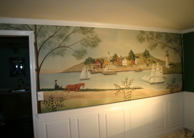 NH Coastal Mural on wall