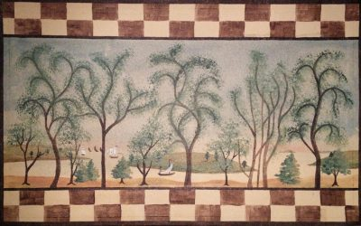 Floorcloth Painting Class at Rufus Porter Museum