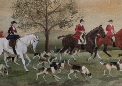 Side Saddle Hunt Scene